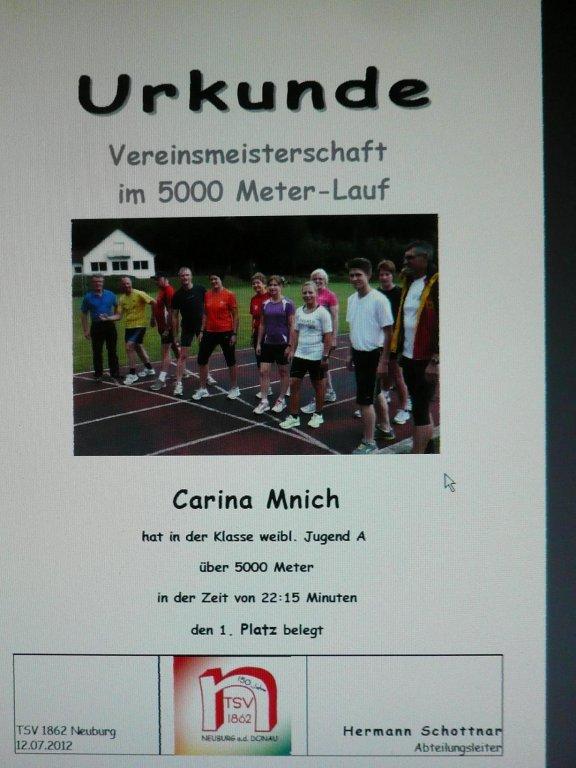 5000 meter lauf